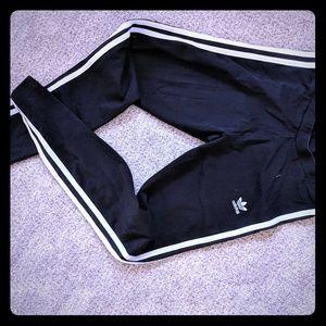 Full length addidad three stripe leggings